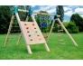 Детский игровой комплекс с двумя домиками и горками