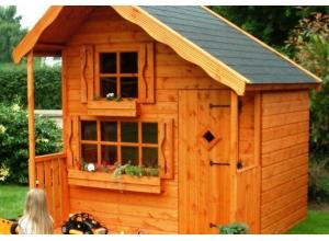 Деревянный детский домик с двумя этажами. Купить в Киеве и Украине