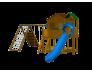Уличный детский игровой комплекс - мини крепость с двумя домиками и горкой