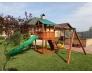 Детская игровая площадка с двухэтажным домиком, горкой и песочницей MD_006