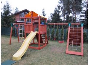 Детский игровой комплекс с домиком, горкой и качелями MD_007